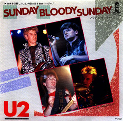 Sunday Bloody Sunday Japan Version Front Sleeve